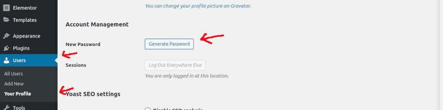 wordpress-change-password