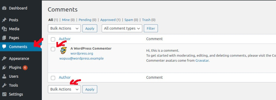 wordpress-sample-comment-page
