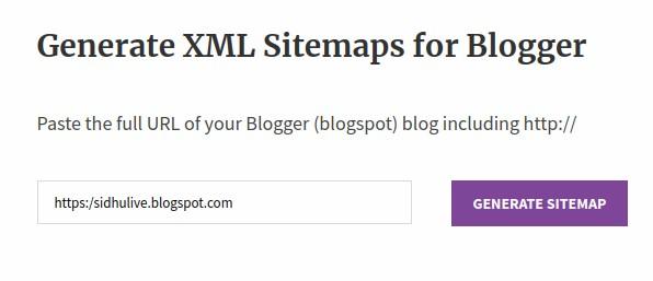 blogger-site-map-generator