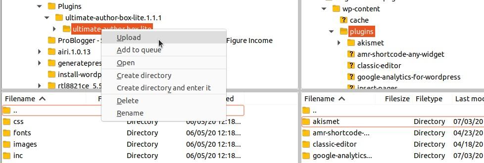 How to install WordPress Plugin using FTP