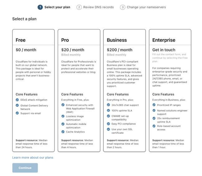 cloudflare-choose-plan