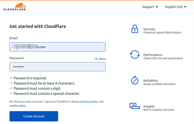 cloudflare-signup-page